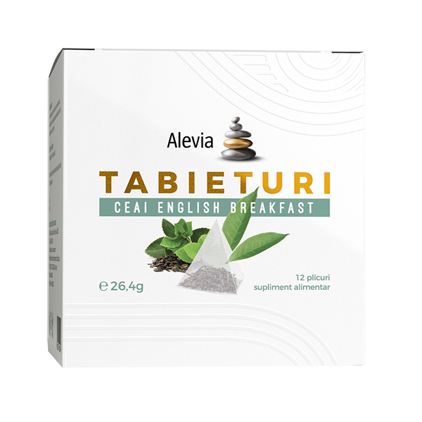 Ceai English breakfast Tabieturi (12 plicuri piramida) Alevia - 26.4 g imagine produs 2021 Alevia