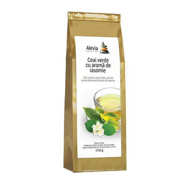 Ceai verde cu aroma de iasomie Alevia - 35 g imagine produs 2021 Alevia