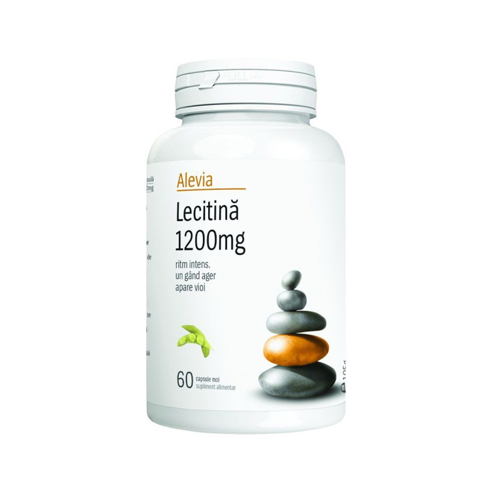 Lecitina 1200 mg Alevia - 60 capsule moi imagine produs 2021 Alevia
