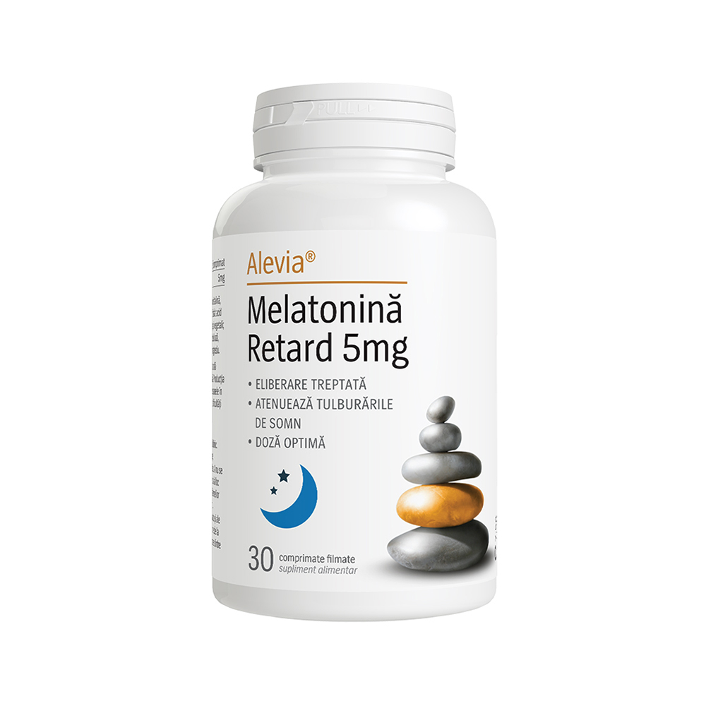Melatonina Retard 5 mg Alevia - 30 comprimate imagine produs 2021 Adams Supplements