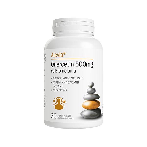 Quercetin 500 mg cu Bromelaina Alevia - 30 capsule imagine produs 2021 Alevia