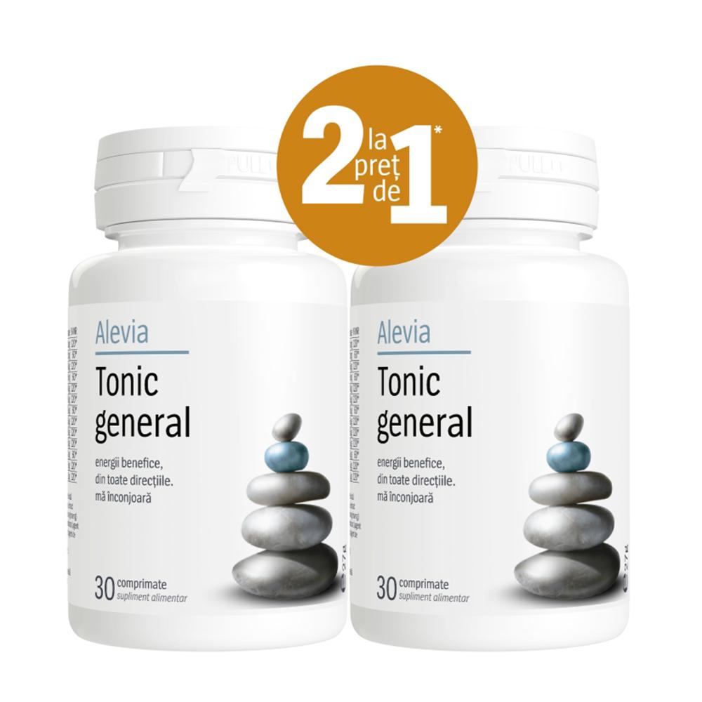 Tonic general (Pachet 1+1 gratis) Alevia - 2 x 30 comprimate imagine produs 2021 Alevia