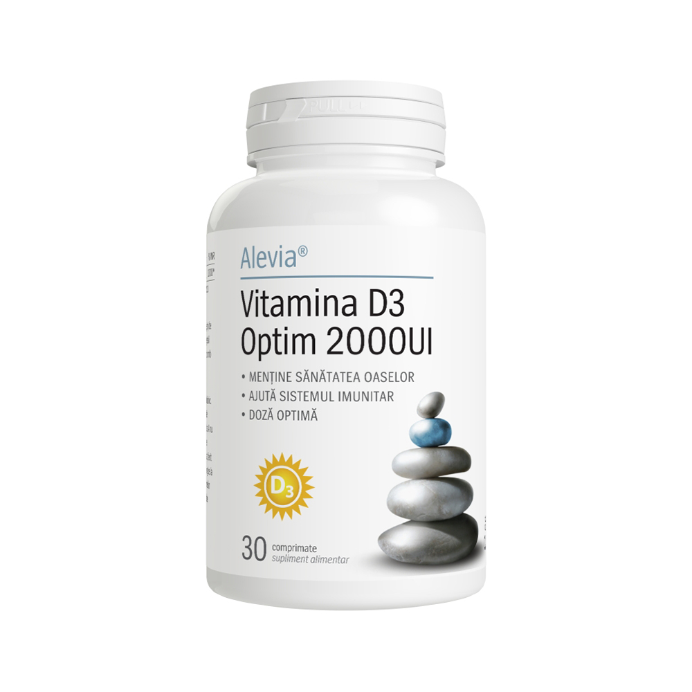 Vitamina D3 Optim 2000UI Alevia - 30 comprimate imagine produs 2021 Alevia