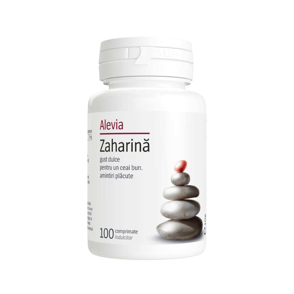 Zaharina Alevia - 100 comprimate imagine produs 2021 Alevia
