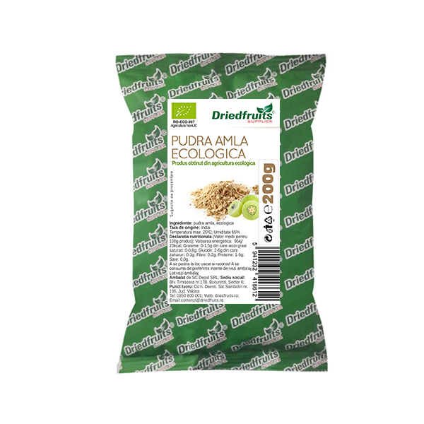 Amla Pudra BIO - 200 g imagine produs 2021