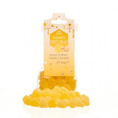 Jeleuri cu miere, lamaie si ghimbir Apidava - 100 g imagine produs 2021 Apiterra