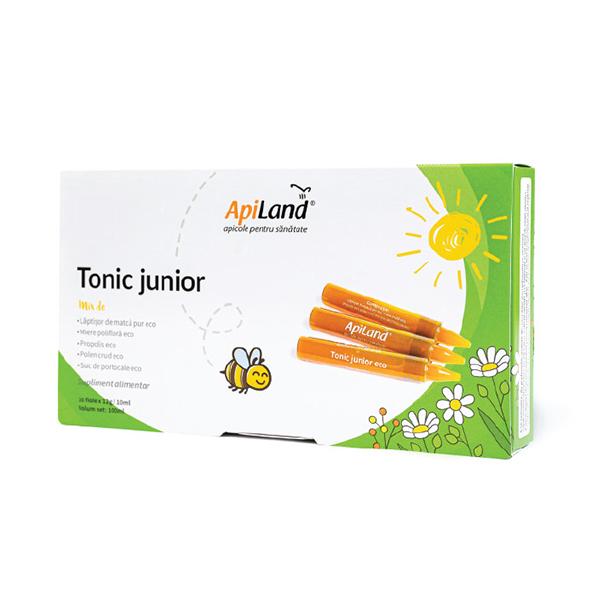 Tonic junior (10 fiole * 12 g) APILAND - 120 g imagine produs 2021 Apiland