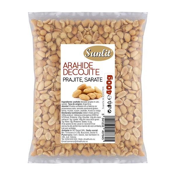 Arahide decojite prajite si sarate (albe) Sunlit - 400 g imagine produs 2021 Dried Fruits