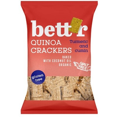 Crackers cu quinoa si turmeric (fara gluten) BIO Bettr - 100 g imagine produs 2021 Dried Fruits