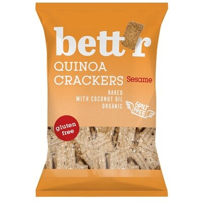 Crackers cu quinoa si susan (fara gluten) BIO Bettr - 100 g imagine produs 2021 Dried Fruits
