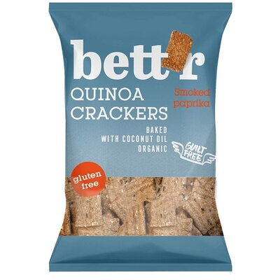 Crackers cu quinoa si boia (fara gluten) BIO Bettr - 100 g imagine produs 2021 Dried Fruits