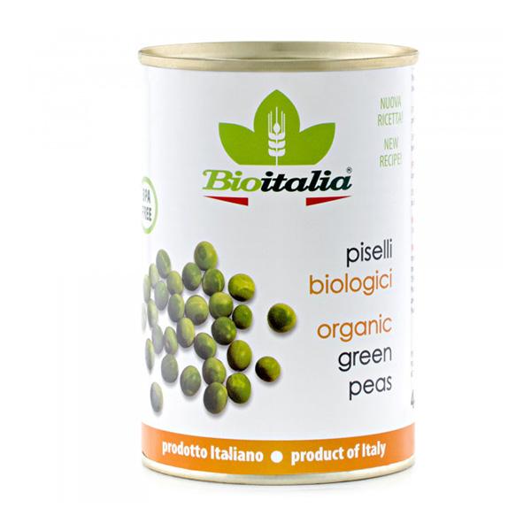 Mazare verde (conserva) BioItalia BIO - 400 g imagine produs 2021 Bioitalia