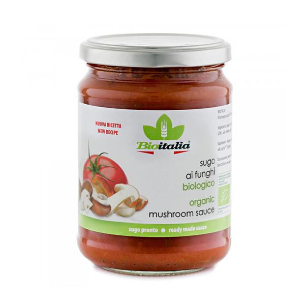 Sos de rosii cu ciuperci BioItalia BIO - 350 g imagine produs 2021 Bioitalia