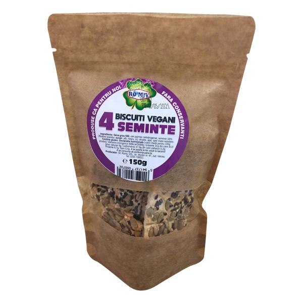 Biscuiti vegani cu 4 seminte Romiv - 150 g imagine produs 2021 Romiv