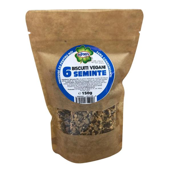Biscuiti vegani cu 6 seminte Romiv - 150 g imagine produs 2021 Romiv