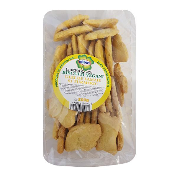 Biscuiti vegani cu ulei de lamaie si turmeric Romiv - 300 g imagine produs 2021 Romiv