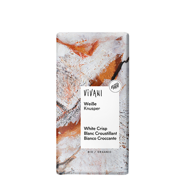 Ciocolata alba crunchy (tableta) BIO Vivani - 100 g imagine produs 2021 Horst Bode