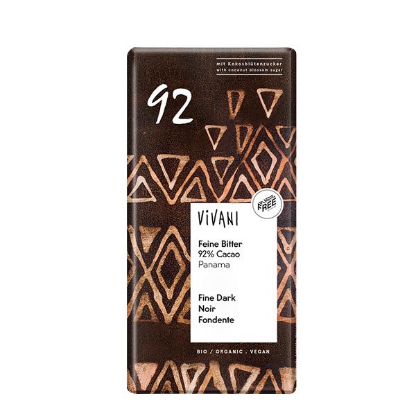 Ciocolata neagra (92% cacao) - tableta BIO Vivani - 80 g imagine produs 2021 Horst Bode