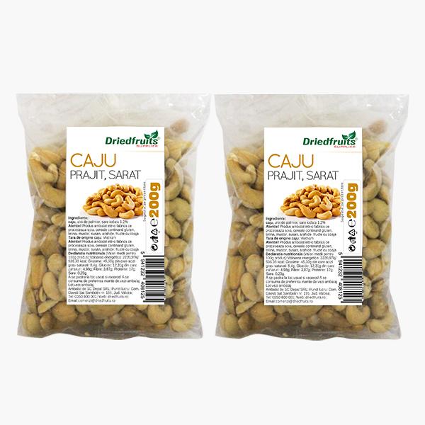 Caju prajit si sarat Sunlit - 200 g x 2 Buc (PROMO - 15%) imagine produs 2021 Dried Fruits