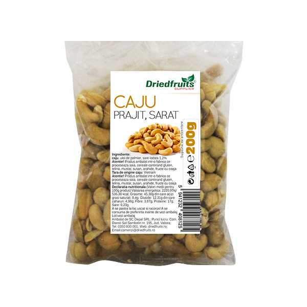 Caju prajit si sarat Sunlit - 200 g imagine produs 2021 Dried Fruits