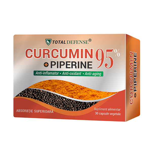 Curcumin + Piperine 95% Cosmo Pharm - 30 capsule imagine produs 2021 Cosmo Pharm