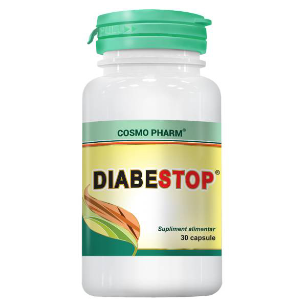 Diabestop Cosmo Pharm - 30 capsule imagine produs 2021 Cosmo Pharm