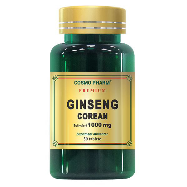 Ginseng Corean 1000 mg Cosmo Pharm - 30 tablete imagine produs 2021 Cosmo Pharm