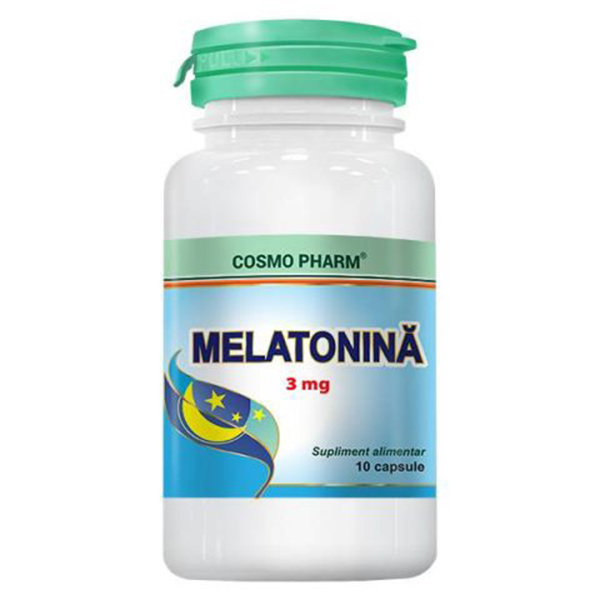 Melatonina 3 mg Cosmo Pharm - 30 capsule imagine produs 2021 Cosmo Pharm