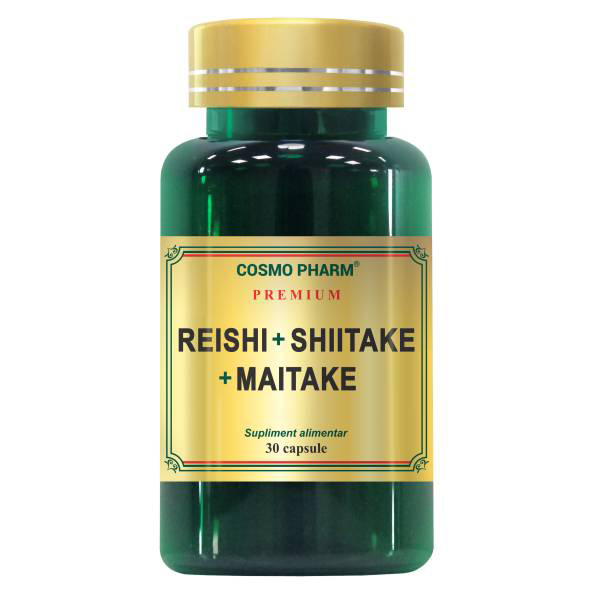 Reishi Shiitake Maitake Cosmo Pharm - 30 tablete imagine produs 2021 Cosmo Pharm