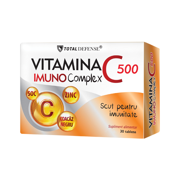 Vitamina C 500 Imuno Complex Cosmo Pharm - 30 tablete imagine produs 2021 Cosmo Pharm