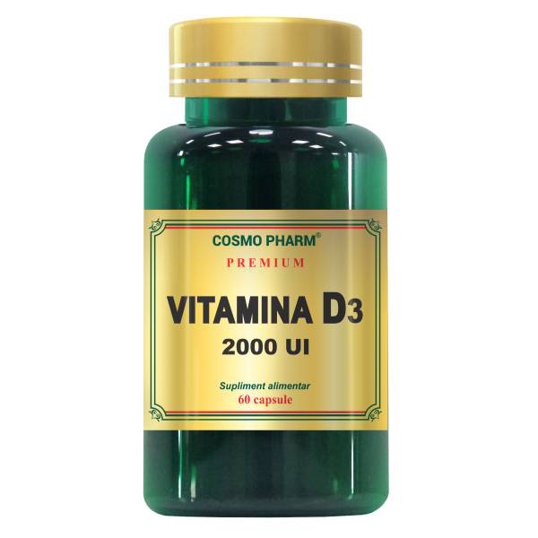 Vitamina D3 2000 UI Cosmo Pharm - 60 capsule imagine produs 2021 Cosmo Pharm