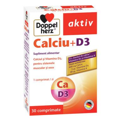 Aktiv Calciu + D3 Doppelherz - 30 capsule imagine produs 2021 Doppel Herz