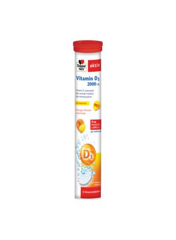 Aktiv Vitamina D 2000 UI Doppelherz - 15 comprimate efervescente imagine produs 2021 Doppel Herz