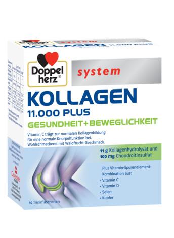 System Kollagen 11.000 Plus (10 flacoane) Doppelherz - 250 ml imagine produs 2021 Doppel Herz