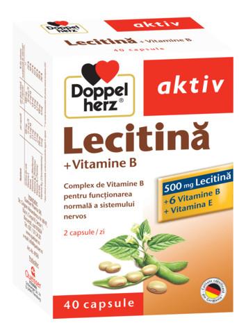 Aktiv Lecitina + vitamine B+E Doppelherz - 40 capsule imagine produs 2021 Doppel Herz