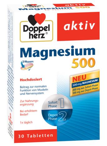 Aktiv Magneziu 500 mg Doppelherz - 30 capsule imagine produs 2021 Doppel Herz