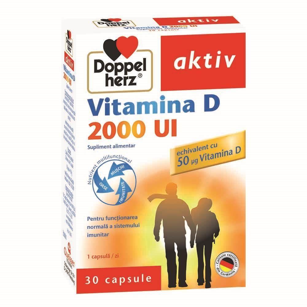 Aktiv Vitamina D 2000 UI Doppelherz - 30 capsule imagine produs 2021 Doppel Herz