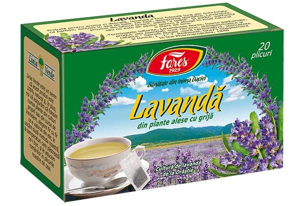 Ceai lavanda (20 pliculete) Fares - 20 g imagine produs 2021 Fares