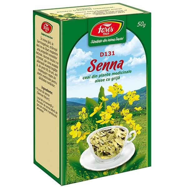 Ceai senna frunze (punga) Fares - 50 g imagine produs 2021 Fares