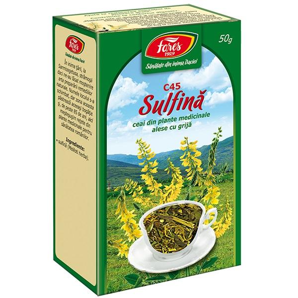 Ceai sulfina iarba (punga) Fares - 50 g imagine produs 2021 Fares