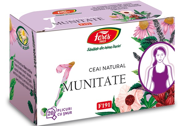 Ceai imunitate (20 pliculete) Fares - 30 g imagine produs 2021 Fares