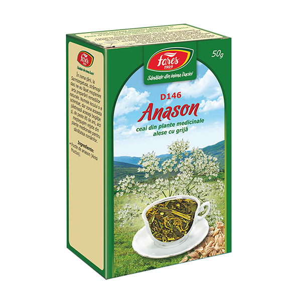 Ceai anason fructe (punga) Fares - 50 g imagine produs 2021 Fares