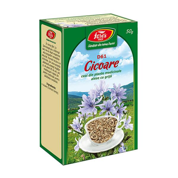 Ceai cicoare iarba (punga) Fares - 50 g imagine produs 2021 Fares