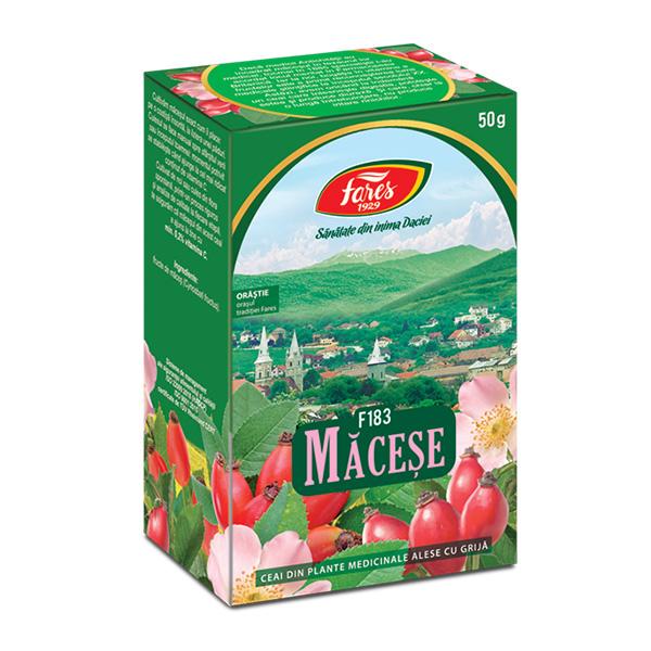 Ceai macese (punga) Fares - 50 g imagine produs 2021 Fares