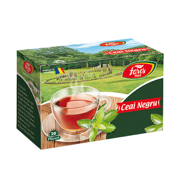 Ceai negru (20 pliculete) Fares - 30 g imagine produs 2021 Fares