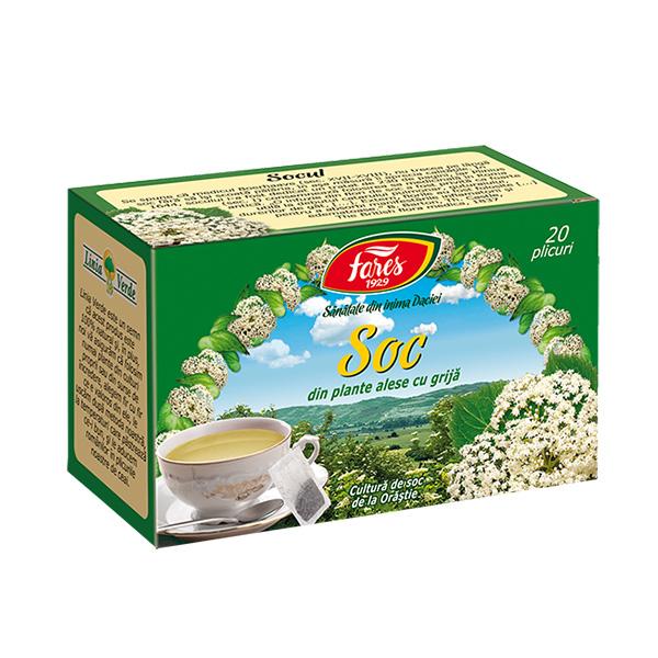 Ceai soc (20 pliculete) Fares - 30 g imagine produs 2021 Fares