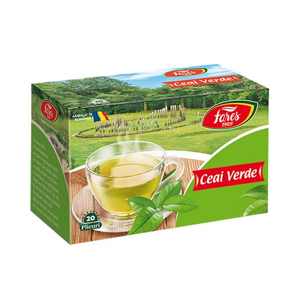 Ceai verde (20 pliculete) Fares - 30 g imagine produs 2021 Fares