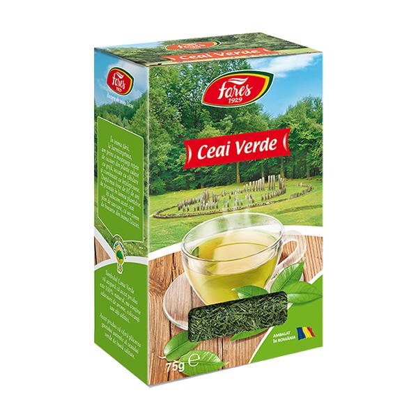 Ceai verde (punga) Fares - 75 g imagine produs 2021 Fares