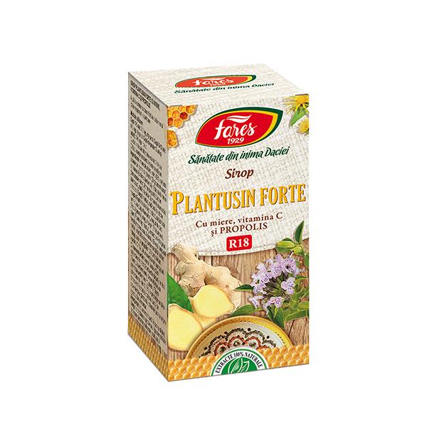 Sirop plantusin forte cu miere si propolis Fares - 100 ml imagine produs 2021 Fares