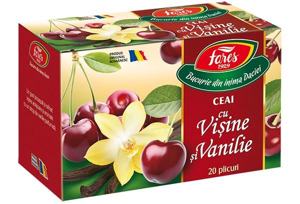 Ceai cu visine si vanilie (20 pliculete) Fares - 40 g imagine produs 2021 Fares